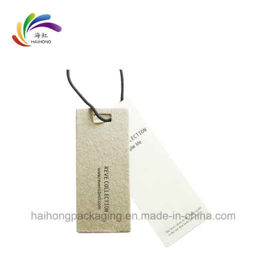 Factory Direct Sale Printing Garment Hang Tags with Customized