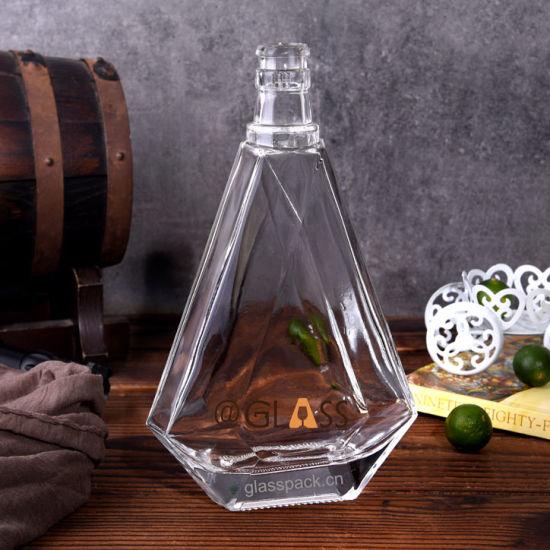 500ml Premium Quality Glass Bottle for Whisky, Liqueurs