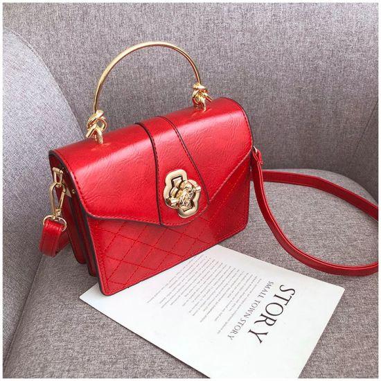 2019 New Designer OEM PU Work Shoulder Bag Red Lady Handbags
