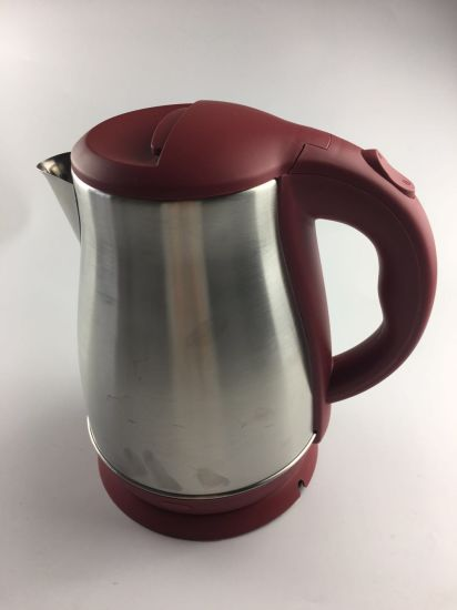 Best Seller Home Appliance Red Stainless Steel Electric Tea Pot