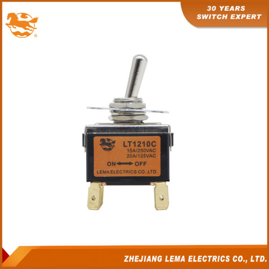 China High Quality Lema Lt1210c Double Pole on-off Toggle
