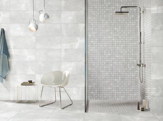 Cement Polished Light Grey Porcelain Ceramic Flooring Wall Tile