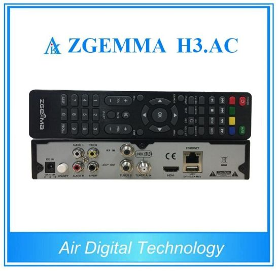 Official Softwares Zgemma H3. AC Linux OS Enigma2 Dual Core DVB-S2+ATSC Twin Tuners for America/Mexico pictures & photos