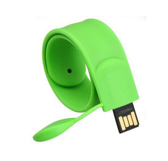 USB 2.0 Silicone Bracelet Wrist Band USB Flash Drive Pen Drive Stick for Customized Logo