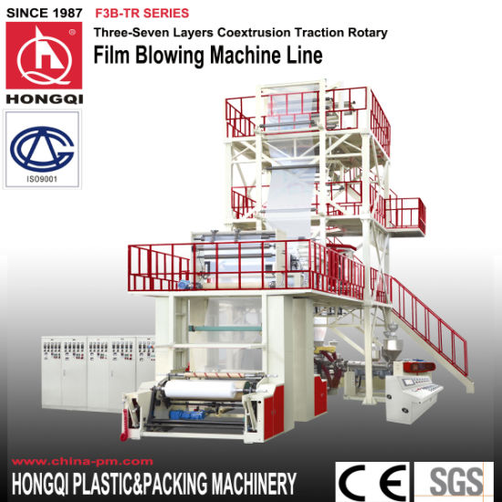 Traction Rotary 3 Layers Extruding Film Blowing Machine pictures & photos