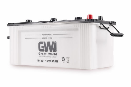 Gw Brand N150 Rechargeable Dry Charged Battery for Truck pictures & photos