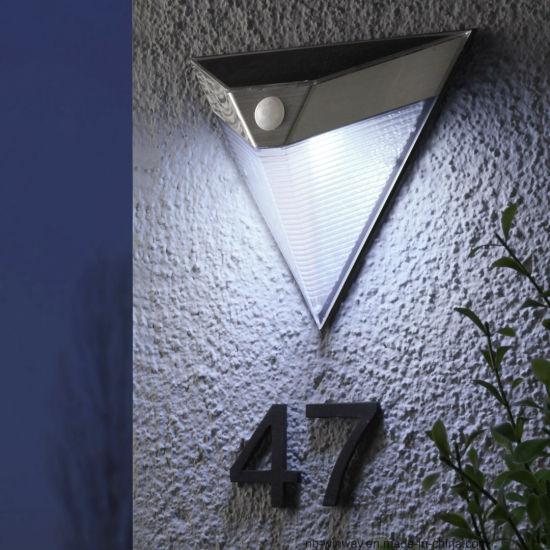 Stainless Steel Solar Outdoor Wall Sensor Light