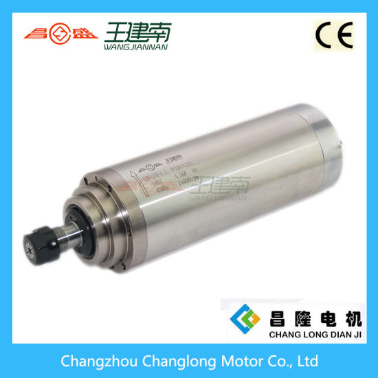 Manufacture 4.5kw Water Cooled High Speed Three Phase Asynchronous Spindle Motor for Wood Carving CNC Router pictures & photos