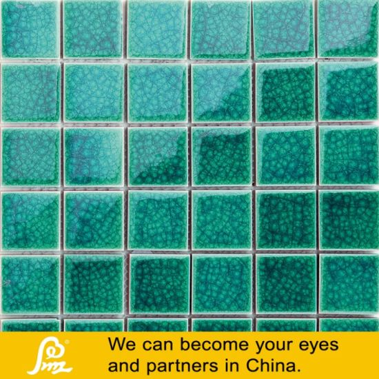 Swimming Pool Ceramic Mosaic in Cracker Blue and Green pictures & photos