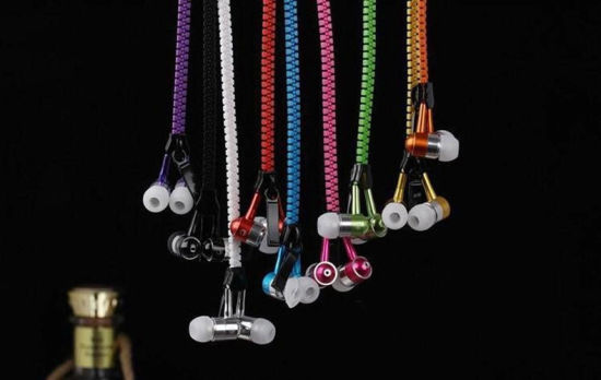 Metal Zipper Wired Headset Headphone Earphone pictures & photos