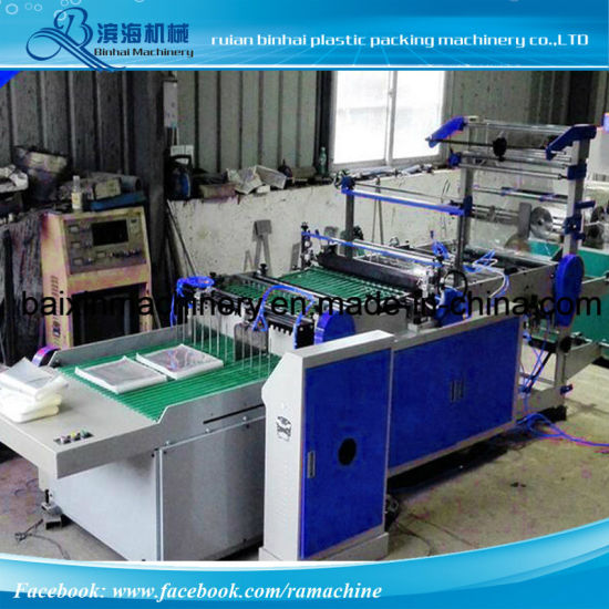 Two Lines OPP Header Bag Making Machine pictures & photos