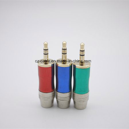 Colour Metal Audio Plug, 3.5mm Stereo Plug pictures & photos
