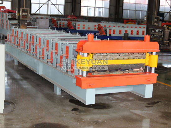 Arc Cut Double Glazed Tile Sheet Metal Roofing Plate Rolling Machine