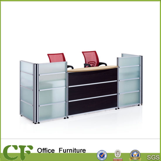 office reception counter. Popular Fashion Office Reception Counter With Frosted Glass
