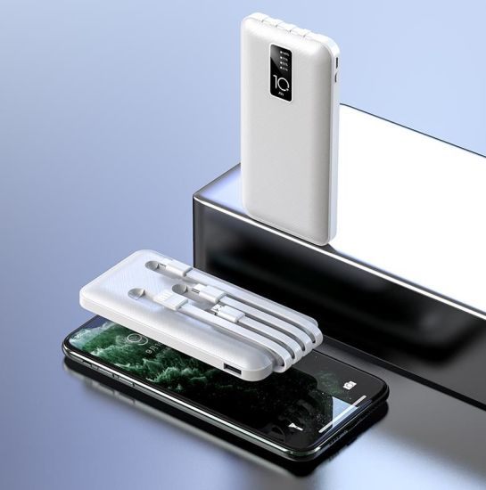 10000mAh with Built in USB Cables Power Banks