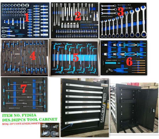7 Drawers Professional Heavy Duty Tool Cabinet Set (FY262A)