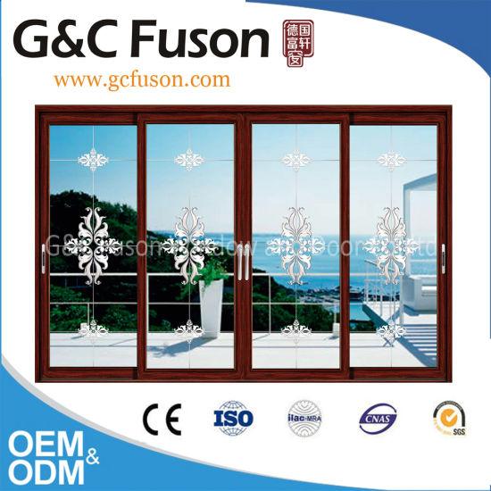 China Top Quality Dark Grey Aluminium Sliding Patio Door China