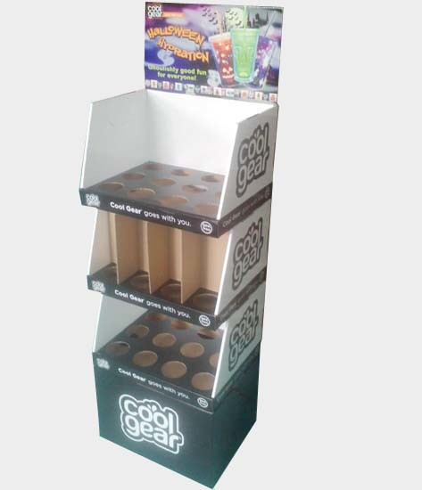Water Bottles Pop/POS Cardboard Retail Floor Display with Stackable Pdqs pictures & photos