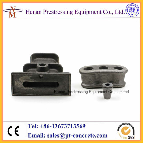 China Bonded Post Tensioning System Stressed Anchor Block
