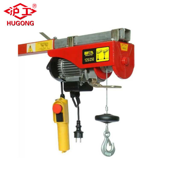 China Household Wire Rope Hoist Mini Electric Hoist with Trolley ...