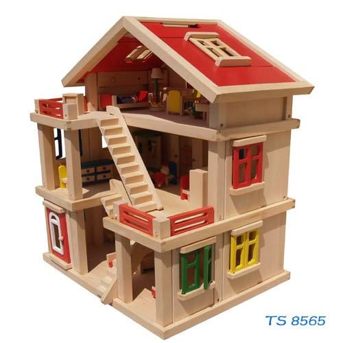 Classical Large Wooden Doll House pictures & photos