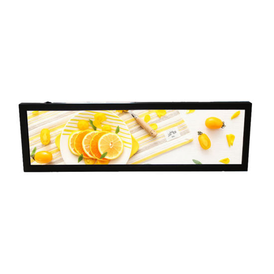 Indoor Ultra Wide 37 Inch Android Banner Shelf Edge Bar LCD Monitor Stretch LCD Display