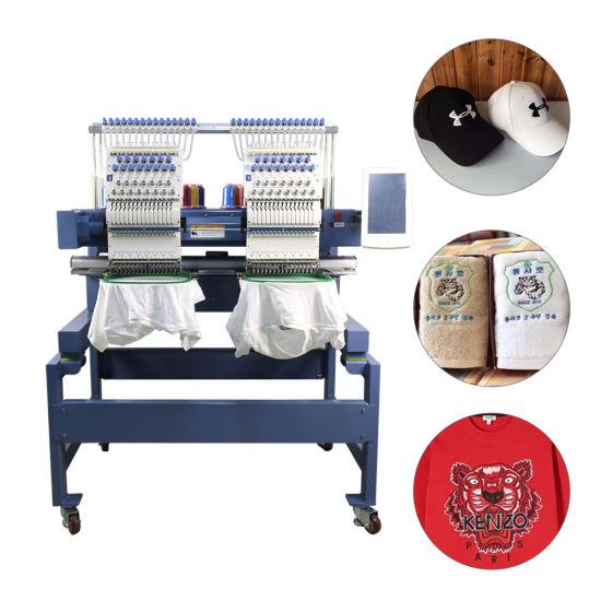 15 Needles 2 Head Tajima Computerized Embroidery Machine Holiauma Best Selling Embroidery Machine