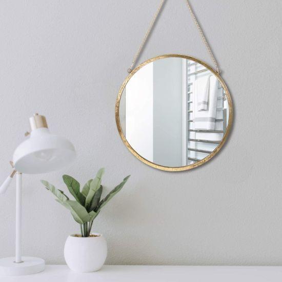 China Decor Wall Hanging Mirror Black, Gold Circles Mirror Wall Decoration