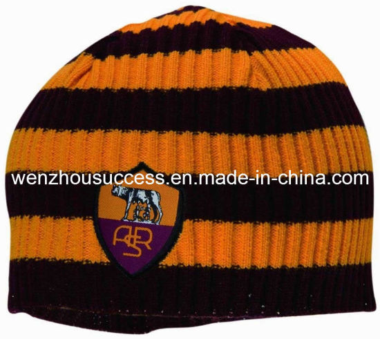 Football Club Knitted Hat with Embroidery Logo pictures & photos