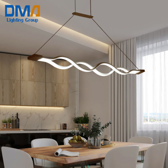 Wave Shape Postmodern Bar LED pendant Lamp for Exhibition Hall