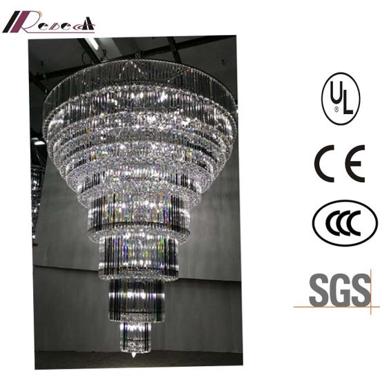 China high quality hotel lobby multilevel large led crystal high quality hotel lobby multilevel large led crystal chandelier aloadofball Choice Image