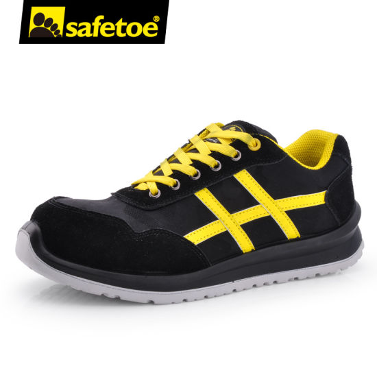 Fashion Casual Industrial Women Men Work Leather Safety Sports Shoes