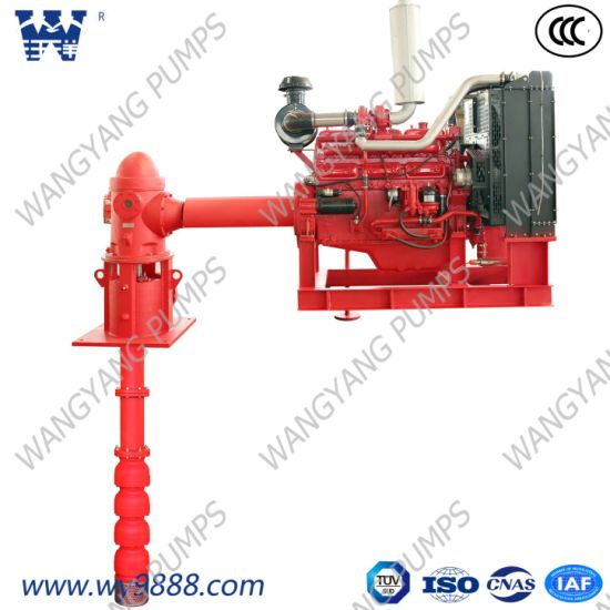 Low Price Diesel Engine Line-Shaft Vertical Turbine Fire Pump System