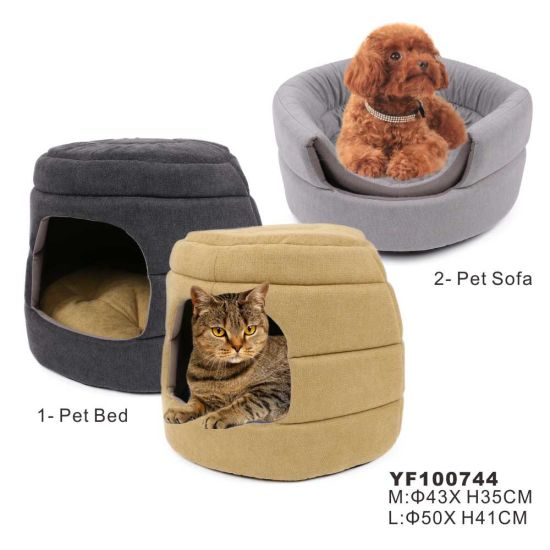 2019 Suede Fabric PP Fiber Foam Warm Soft Pet Bed