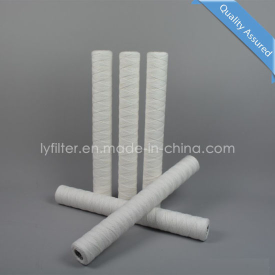 20 Inch (508mm) PP Yarn String Wound 5 Micron Water Filter Cartridge for Water Pre Treatment
