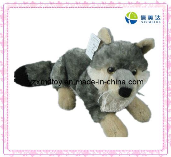 China Plush Toy Gray Fox Soft Baby Toy China Fox Toy Animals Toy