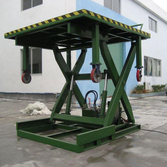 China 20t Manual Car Dock Loading Table Lift Platform - China Lift ...