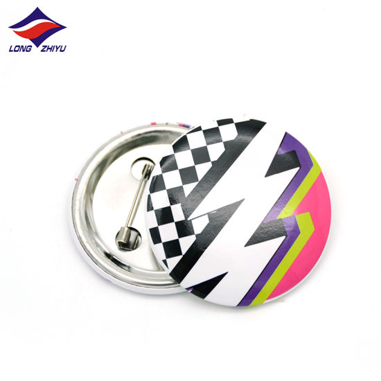 Longzhiyu 13 Years China Supplier Special Designer Lapel Pin Customize Your Own Badge with Color You Like Round Blank Pins