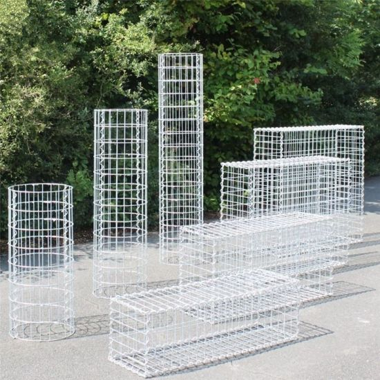 Amazon Ebay′s Choice Welded or Woven PVC Coated or Galvanized Gabion Basket for Garden Designing (GB) pictures & photos