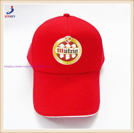 Fashion Cotton Twill Cap with Sandwich Visor, 5panels Cap with Sandwich Brim