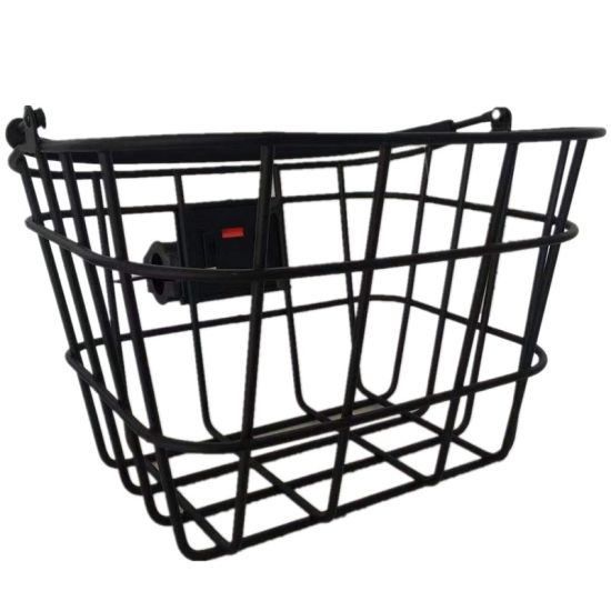 Fashion Aluminum Alloy Front Bicycle Basket with Handle and Qr of Bicycle Parts
