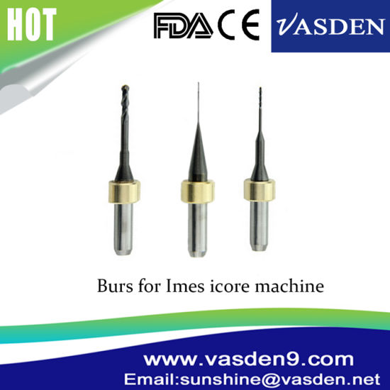 Dental CAD/Cam Tungsten Carbide Milling Burs for Imes Icore 250I and 350I