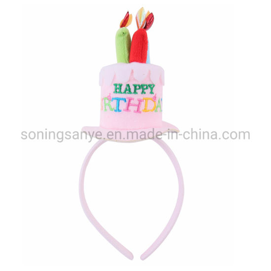 Enjoyable China Dto0067 Happy Birthday Cake Candles Pink Headband Funny Personalised Birthday Cards Paralily Jamesorg