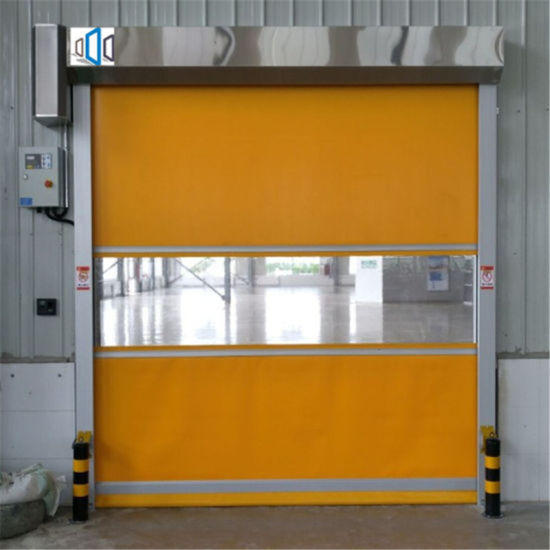 Yellow PVC Automatic Fast Roller Shutter High Speed Door