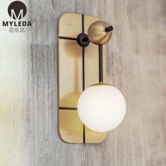 Globe Wall Sconce Wall Lighting Brass Gold Wall Lamp Vanity Light
