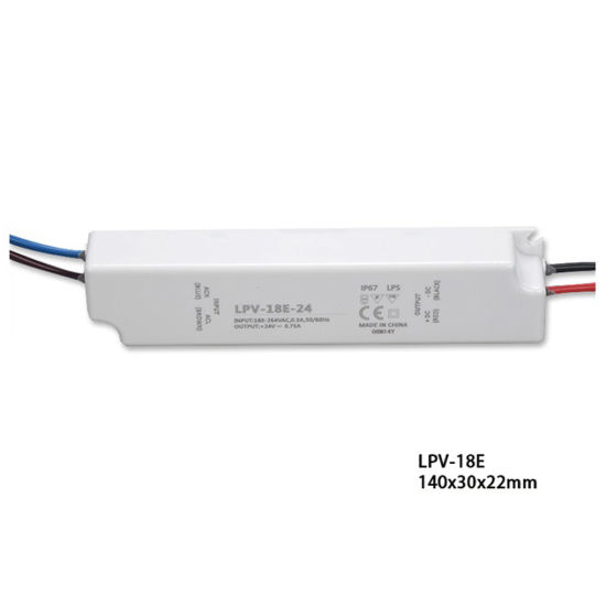 12V18W IP67 Outdoor Waterproof AC DC LED Switching Power Driver