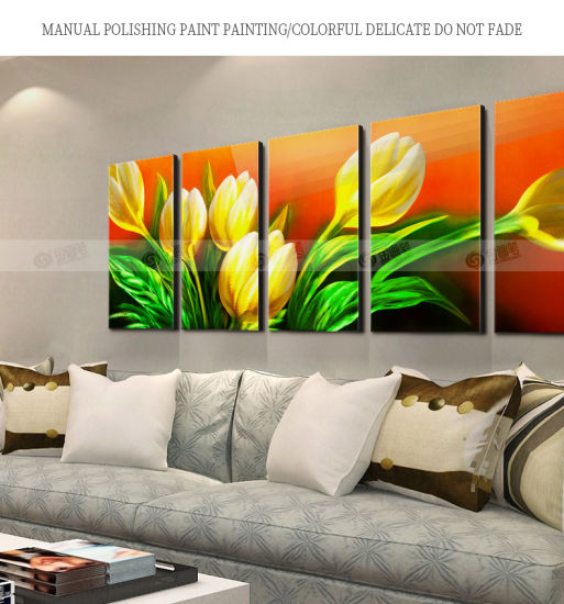 Hnaging 5 Panel Abstract Wall Art