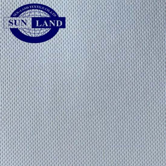 Eco-Friendly RPET Polyester and Coolpass Dry Fit Breathable Knitted Birdeye Mesh Fabric for Sportswear