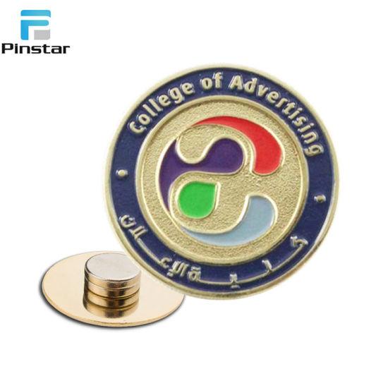 Suzhou Custom Soft Enamel Gold Plated Magnetic Lapel Pin