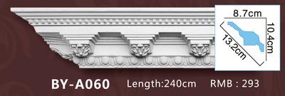 Lightweight PU Plain Corner Moulding Polyurethane Cornice for Ceiling Decoration